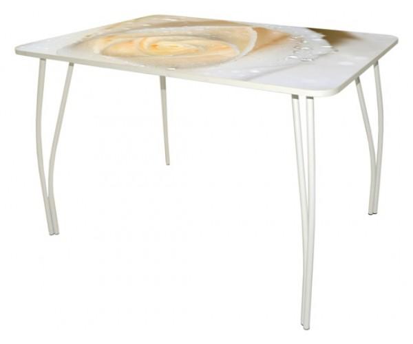 Стол обеденный Сеул-1 Дуга белая Luminar 16