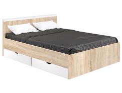 Кровать Вайт 1600 дуб сонома/белый