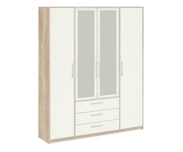 Шкаф  8.041 Вайт с зеркалом дуб сонома/ белый