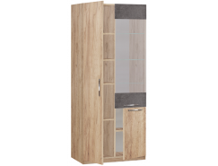 Шкаф витрина Лофт 19.061 золотистый дуб/бетон