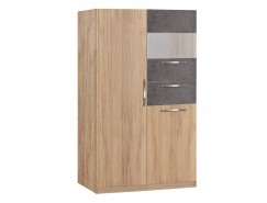 Шкаф витрина Лофт 19.14 золотистый дуб/бетон