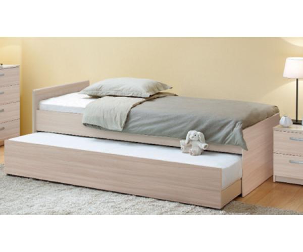 Кровать детская выдвижная Дуэт шимо светлый