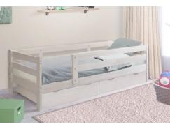 Кровать детская массив Норка с ящиками и бортиком