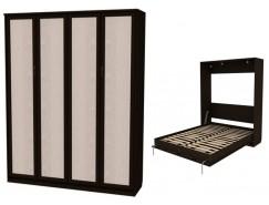 Кровать подъемная 1600 мм (вертикальная) К04 венге