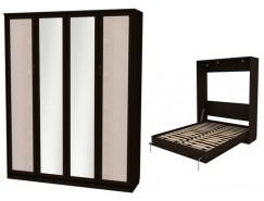 Кровать подъемная 1600 мм (вертикальная) К04+2 зеркала венге