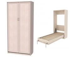 Кровать подъемная 900 мм (вертикальная) К02 молочный дуб