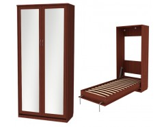 Кровать подъемная 900 мм (вертикальная) К02+2 зеркала итальянский орех
