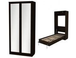 Кровать подъемная 900 мм (вертикальная) К02+2 зеркала венге