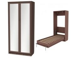Кровать подъемная 900 мм (вертикальная) К02+2 зеркала ясень шимо