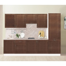 МН для кухни Массив 2600 мм береза шоколад