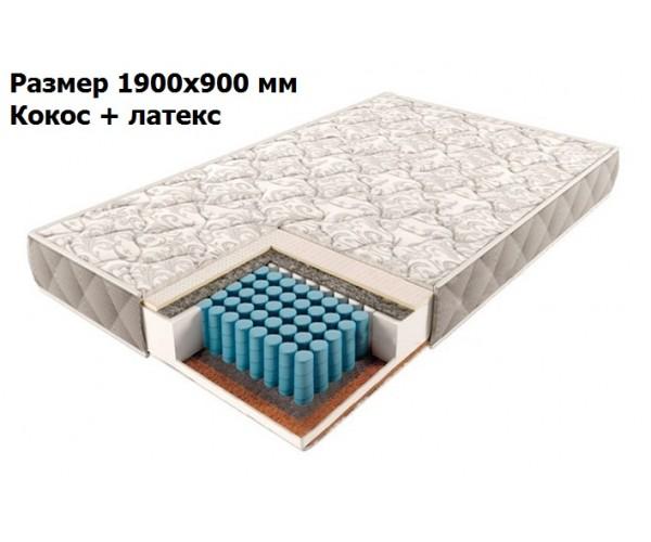 Матрас Comfort зонально-независимые пружины 190*90 кокос + латекс