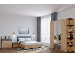 Спальня Лофт золотистый дуб/бетон