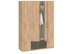Шкаф для одежды Лофт 19.041 дуб золотистый/бетон