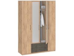 Шкаф для одежды Лофт 19.041Z дуб золотистый/бетон
