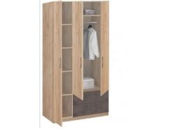 Шкаф для одежды Лофт 19.31 дуб золотистый/бетон