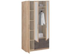 Шкаф для одежды Лофт 19.31Z дуб золотистый/бетон