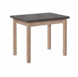 Стол обеденный прямая нога 600*900 бетон/ дуб золотистый