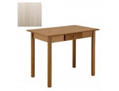 Стол обеденный прямая нога с ящ. 600*900 шимо светлый/шимо светлый