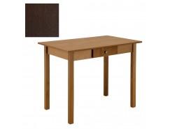 Стол обеденный прямая нога с ящ. 600*900 венге/венге