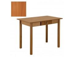 Стол обеденный прямая нога с ящ. 600*900 вишня/вишня