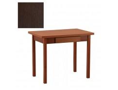 Стол обеденный раскладной прямая нога с ящ. 600*900 венге/венге