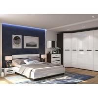 МН для спальни Вегас 4 венге/белый глянец