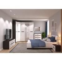 МН для спальни Вегас 5 венге/белый глянец