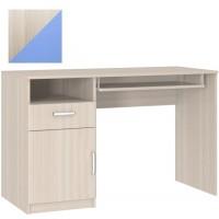 Стол компьютерный с тумбой 10.01 шимо светлый/голубой