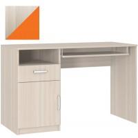 Стол компьютерный с тумбой 10.01 шимо светлый/оранжевый