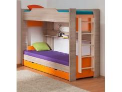 Двухъярусная кровать 900*1900 шимо светлый/оранжевый
