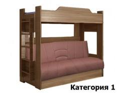 Двухъярусная кровать с диваном-кроватью 900*1900 шимо темный (I)