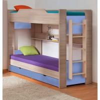 Двухъярусная кровать 900*1900 шимо светлый/голубой