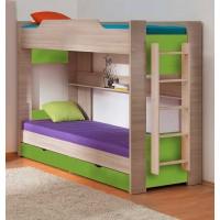 Двухъярусная кровать 900*1900 шимо светлый/салатовый