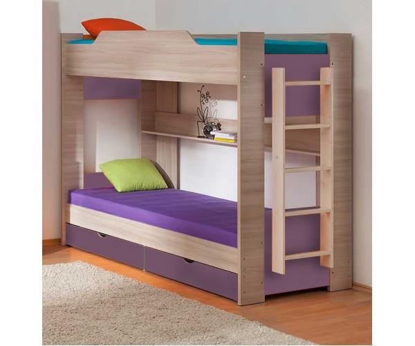 Двухъярусная кровать 900*1900 шимо светлый/виола
