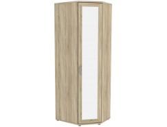Шкаф угловой несимметричный с зеркалом Гарун-К 537.02 сонома дуб