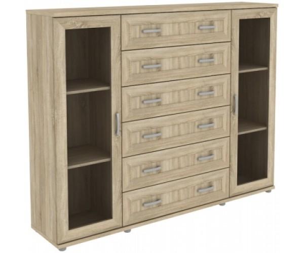 Шкаф для книг 304.12 дуб сонома
