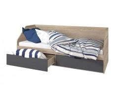 Кровать Анталия 800/2 ящика сонома/графит софт