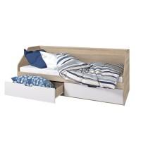 Кровать Анталия 800/2 ящика сонома/белый софт