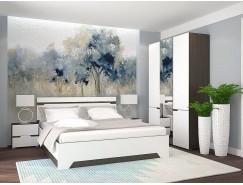 Спальня АНТ (кровать 1,6 м б/м б/о+2 тумбы+шкаф) венге/белый софт