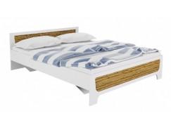 Кровать Милана 1,6 м + ортопед. основание белый/сосна гранд