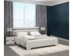 Спальня АНТ (кровать 1,6 м б/м б/о+2 тумбы) венге/белый софт