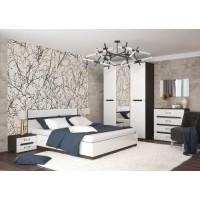 МН для спальни Вегас 1 венге/белый глянец
