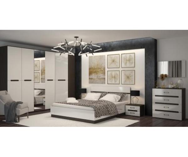 МН для спальни Вегас 2 венге/белый глянец