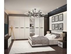 МН для спальни Вегас 3 венге/белый глянец
