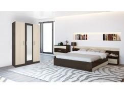 Спальня Леси (комод+тумба 2 шт.+кровать+шкаф 3 ств.) венге/дуб
