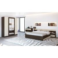 Спальня Леси (комод+тумба 2 шт.+кровать+шкаф) венге/дуб