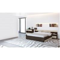 Спальня Леси (комод+тумба 2 шт.+кровать осн. ДСП) венге/дуб