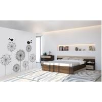 Спальня Леси (комод+тумба 2 шт.+кровать осн. ДСП) кантерберри/сонома