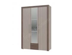 Шкаф распашной 3- дверный с ящиками Азалия ясень шимо светлый/ ясень шимо темный