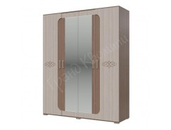 Шкаф 4-х дверный Пальмира ясень шимо светлый/ ясень шимо темный